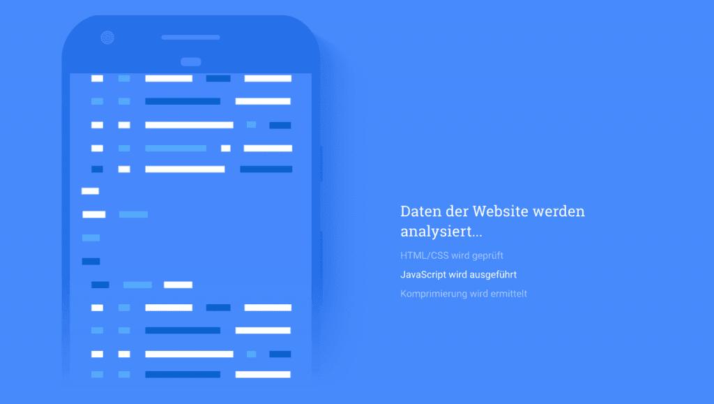 Mit dem Pagespeed Test findest du heraus wie gut deine Site auf mobile Inhalte vorbereitet ist.